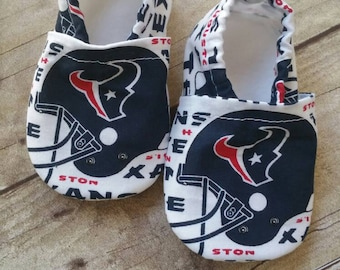 Houston Texans Cloth Baby Booties
