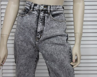 Vintage Jeans Wash  80's Tapered Skinny High Waist Size 12