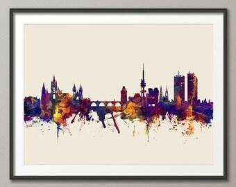 Prague Skyline, Prague (Praha) Czech Republic  Cityscape Art Print (2379)