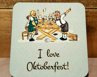 Oktoberfest Gift Coaster set of 4 Home Decor Gift Party Decorations