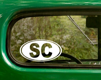 2 SC South Carolina Decals Oval Sticker For Car Truck Jeep Laptop Rv Bumper Bulk Window Laptop 4x4