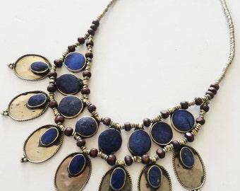 Lapis Lazuli Vintage Ethnic Tribal Indian Necklace