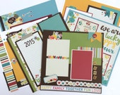 Scrapbook Page Kit 12x12 or Premade 6 pages Family Friend Home