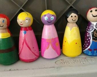 Wooden Peg Characters - Women