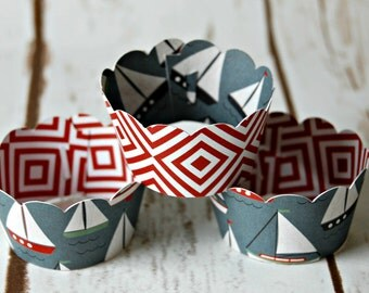 Boat Mini Cupcake Wrappers