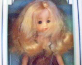 Vintage 1978  Ginny Doll New In Box Over Stock Brown Overalls Blouse Smoke & Pet Free Environment