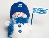 Creighton Bluejays Snowman Ornament