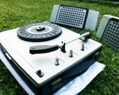 Vintage 1970 Phonola portable record player model SA 8656/38R