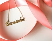 14k Gold - Custom Name Plate Necklace - Your Name Here - Personalized - Fine Jewelry - Investment Piece