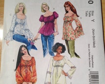 McCall's Sewing Pattern 5050 Misses Tops and Tunics Size 4-14