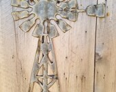 Windmill Sm Up-cycled old Corrugated Metal Wall Hanging Sign FREE SHIPPING