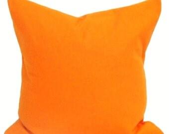 Solid Orange Pillows, Decorative Pillows, Orange Pillow Covers,  Solid Orange Toss Pillow. Cushion, Orange Throw Pillow, Orange