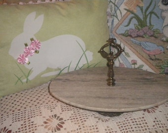 Lovely Marble and Metal Display or Food Holder, French,French Country, Hollywood Regency