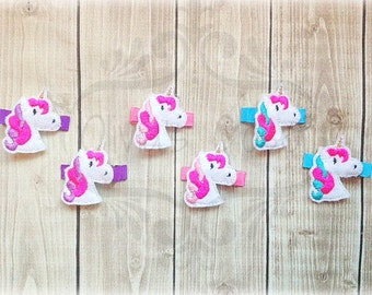 Unicorn Hair Clip Bright Unicorn Hair Clippie Pick one or two. Pick Left side or Right.