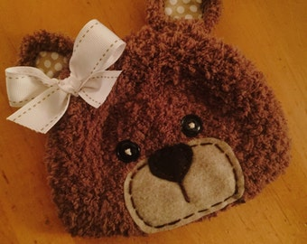 Fuzzy wuzzy was a bear crochet hat, photo prop
