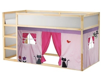 Bed Playhouse / Bed tent / Loft bed curtain - free design and colors customization