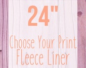 "Choose Your Print Fleece Cage Liner - 24"" - Choose Your Size"