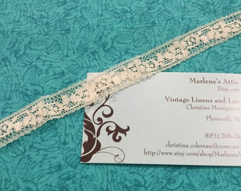 1 yard of 5/8 inch Vintage Ivory Chantilly Lace trim for bridal, baby, crafts, commercial, valentines,  couture by MarlenesAttic - Iten 5P