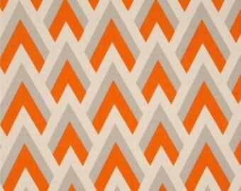 Orange Fabric Orange Zapp Premier Prints Fabric Orange Gray Fabric Mandarin Orange Natural Zapp Home Decor Fabric Fabry by the yard