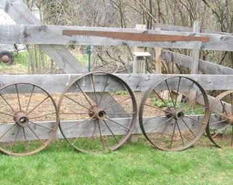 Set of four wagon wheels
