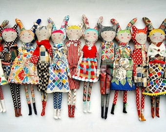 made to order personalised art doll