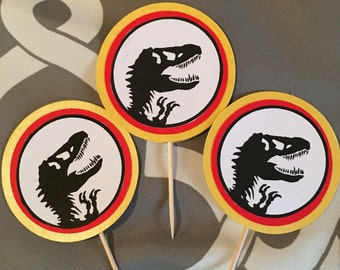 Jurassic World Cup Cake Topperd