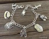 Full Armor Of God Charm Bracelet, Christian Jewelry, Ephesians 6 Scripture Bracelet, Letter Charm Option, Bible Verse Jewelry, Mothers Day