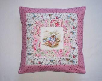 Beatrix Potter's MRS TIGGY-WINKLE Patchwork Nursery Cushion with Cath Kidston Fabrics