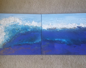 Wave Hello- original painting by Parrish Monk