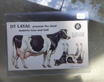 Rare DeLaval Dairy Ideal Holstein Stand Up Advertising Trade Card