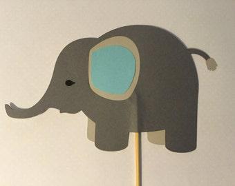 Elephant center pieces- Elephant on a stick- Elephant centerpiece-cake toppers-party decorations-Elephant on a stick