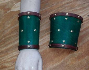 Leather Armor Swordsman's Cuffs Bracers