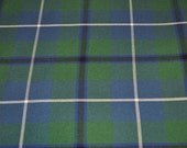 Tartan Fabric. Douglas tartan, Douglas Modern and Douglas Ancient available. Poly viscose. Machine Washable. Price per half metre.