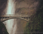 Oregon Photograph | Columbia River Gorge | Multnomah Falls | Dreamy Pastels | Travel Photograph | Waterfall Print | Bridge Photo