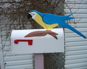 Hand paint mailboxes - MaCaw mailbox