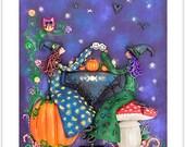 Calendar 2016 Fantasy Calendar Large A3 Size Calendar Witch Calendar Angel Calendar Home Decor Woodland Decor Geeky Decor Harry Potter Decor