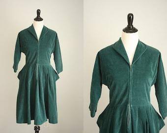 1950s corduroy dress | vintage 50s dress