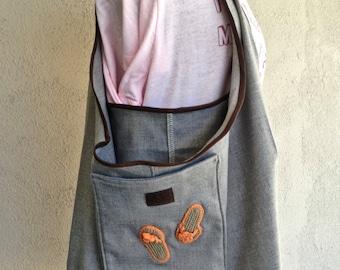 Medium Folding Market Bag, Unlined Shopping Bag, Folding Project Bag,  Carryall Bag, Find-A-Flaw Sale Item