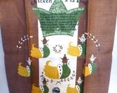 Vintage Leacock Linen Recipe Tea Towel Chicken A La King