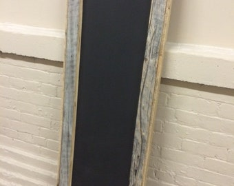 Chalkboard reclaimed barn wood