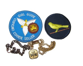 Girl Guide Brownie badge patch metal charms Canada Nostalgia Canadian 80s 90s nostalgia