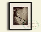 Mississippi River Fisherman - Photo Print - 8x10