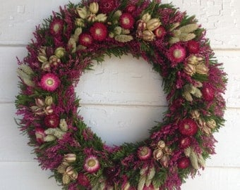 Pink Dried Flower Wreath