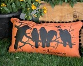 "Ravens Nevermore  Pillow Cover, , Edgar Allen Poe, Halloween, 12x20"""