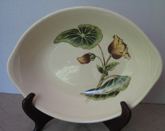 Vintage Serving Dish, Ceramic Serving Bowl, Floral Dish, Place Settings