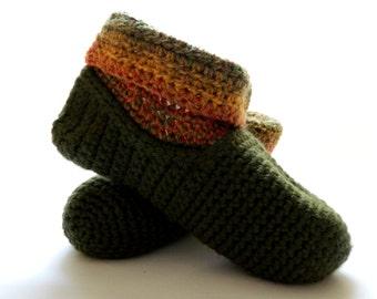 crochet slipper socks, warm wool slippers, bed socks, handmade Christmas, crochet slippers, Winter fashion, ready to ship, UK seller
