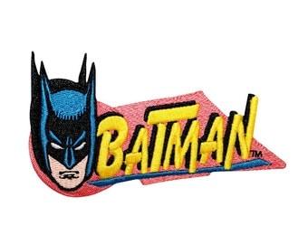 Batman Dark Knight Caped Crusader Retro Logo DC Comics Superhero Iron On Patch