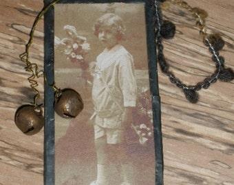Antique Photo Glass Trinket Ornament-Everyday Decor