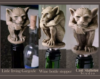 Little Irving  Gargoyle - wine bottle stopper - New York Imp inspired - sculpture gift