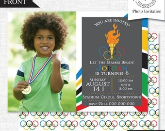 Olympic Party Photo Invitation | Olympic Party Photo Invitation Printable | Olympic Party | Party Printables